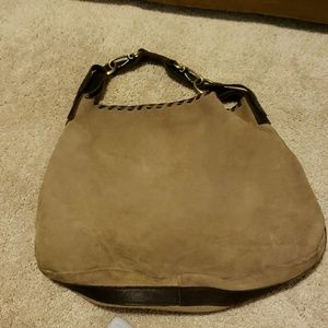 carla marcini Bags - ⬇️tan suede and laced leather large bag